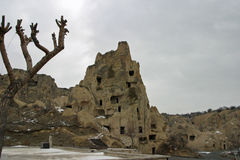 Goreme Openluchtmuseum in Cappadocia Stock Foto's