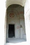 Goreme Openluchtmuseum in Cappadocia Stock Afbeeldingen