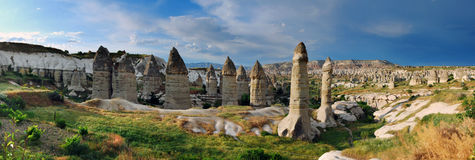 Goreme panorama in Turkey Stock Photos