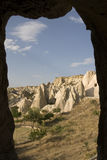 Goreme - rock formations of Cappadocia Royalty Free Stock Photos