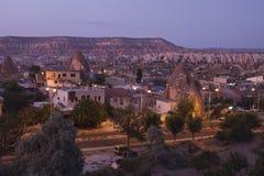 Goreme town in Cappadocia Royalty Free Stock Photo