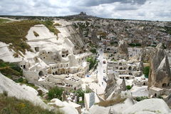 Cappadocia city landscape. Goreme town in Cappadocia in Turkey Stock Photos