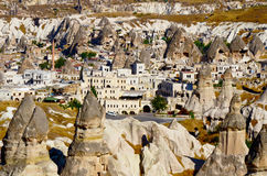 Goreme town in Cappadocia, Turkey Royalty Free Stock Image