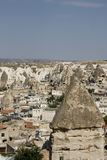 Goreme town panorama - Cappadocia Royalty Free Stock Images