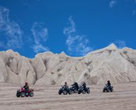 Tourists enjoying a quad bike ride in Cappadocia, Central Anatol stock image