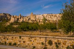 GOREME, TURKEY: Rock houses and churches in Goreme