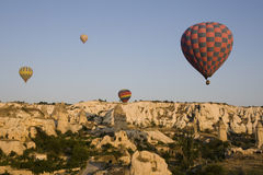 Goreme Valley - Hot Air Balloons at sunrise Royalty Free Stock Photos