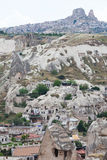 Goreme view in Cappadocia, Turkey Royalty Free Stock Photos