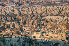 Goreme village in Cappadocia, Turkey Royalty Free Stock Photos