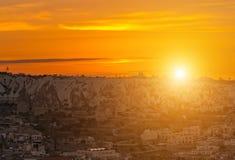 Goremestad Cappadocia Turkije, Anatolië stock foto's