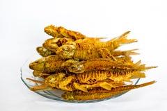 Goreng ikan frito de los pescados Imágenes de archivo libres de regalías