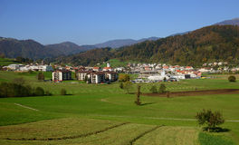 Gorenja vas / Gorenja village, Slovenia Royalty Free Stock Photo