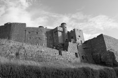 Gorey Castle black and white Stock Photo