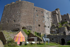Gorey Castle walls and keep, Jersey Stock Image