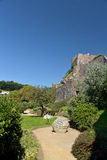 Gorey Castle walls and keep, Jersey Stock Images