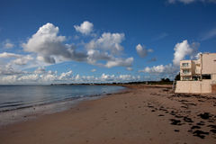 Gorey Harbour and beach Stock Image