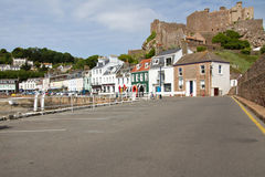 Gorey with Mont Orgueil Castle, Jersey, UK Royalty Free Stock Photography