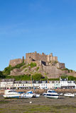 Gorey with Mont Orgueil Castle, Jersey, UK Royalty Free Stock Images