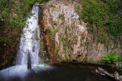 Gorg Negre (schwarzes Pool). Riells-del Montseny, Spanien. Stockbilder