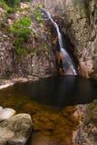 Gorg Negre (schwarzes Pool) von Gualba. Montseny, Spanien. Stockfotografie
