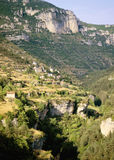 Gorge. De la jonte from belvedere les terasses cevennes lozere languedoc roussillon south of france europe Stock Image
