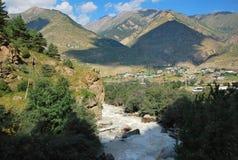 Gorge Adyr-Su elbrus Photos libres de droits