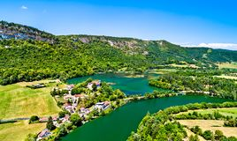 Gorge of the Ain river in France Royalty Free Stock Photos