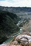 Gorge in the Andes,Mendoza,Argentina. Gorge in the Andes near las lenas,Mendoza,Argentina Royalty Free Stock Photo
