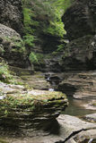 Gorge au parc d'état de la gorge de Watkins (NY) F Photo stock