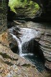 Gorge au parc d'état de la gorge de Watkins (NY) H Images libres de droits