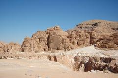 Gorge blanche en Egypte photographie stock