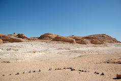 Gorge blanche en Egypte images stock