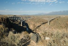 Gorge bridge. Over the Rio Grande River, north of Taos, New Mexico Stock Photo