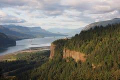 перспектива реки дома gorge columbia Стоковая Фотография RF