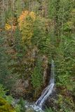 Gorge Creek Falls near Marblemount, North Cascades Highway Stock Images