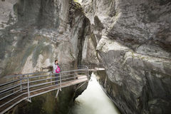 Gorge d'Aare - Aareschlucht Photos stock