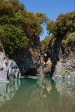 Gorge d'Alcantara Photo stock