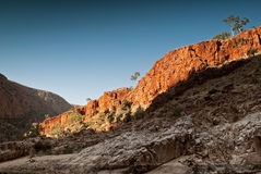 Gorge d'Ormiston en parc national occidental de MacDonnell, Australie N images stock