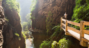 Gorge dans le wulong, Chongqing, porcelaine photographie stock