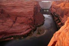 gorge de barrage de gorge Images stock
