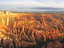 Gorge de Bryce au coucher du soleil Photos libres de droits
