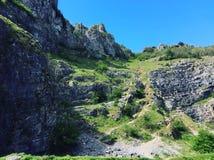 Gorge de cheddar, Somerset images libres de droits