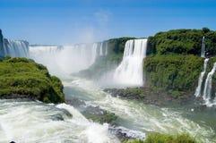 Gorge de diables dans le côté de Brésilien d'Iguazu Falls Photos libres de droits