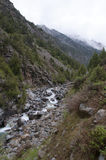 Gorge de Dugoba, Kirghizistan Photos stock