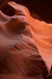 Gorge de fente de l'Arizona avec le surplomb Photo libre de droits