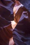 Gorge de fente en Arizona Photos stock