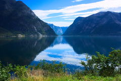 Gorge de fjord Photos libres de droits