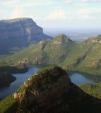 Gorge de fleuve de Blyde en Afrique Photos libres de droits