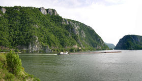 Gorge de fleuve de Danube Photo stock