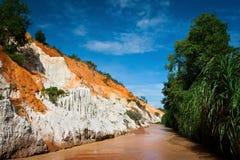 Gorge de fleuve rouge, Ne de Mui, Vietnam Images stock